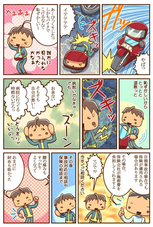 case6.交通事故治療・むち打ちマンガ